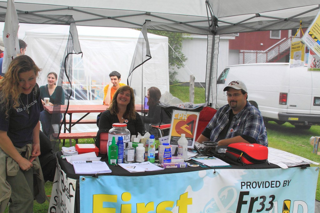 Fr33 Aid Booth at PorcFest 2011