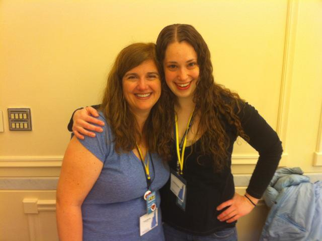 Fr33 Aid Organizers Teresa and Stephanie at Liberty Forum