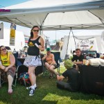Chillin' at the Fr33 Aid Tent
