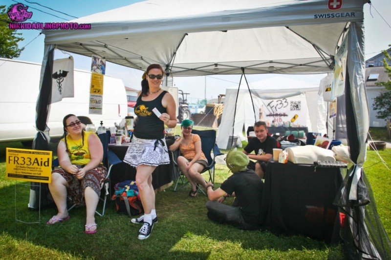 Chillin' at the Fr33 Aid Tent Porcfest 2012