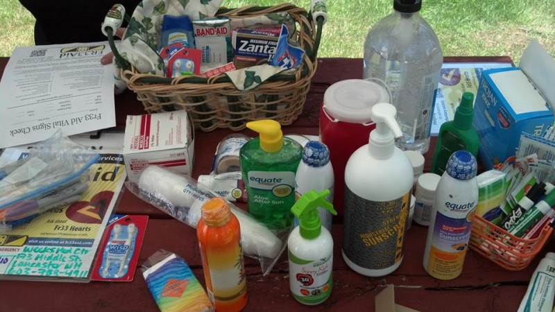 Some of Fr33 Aid's most popular supplies