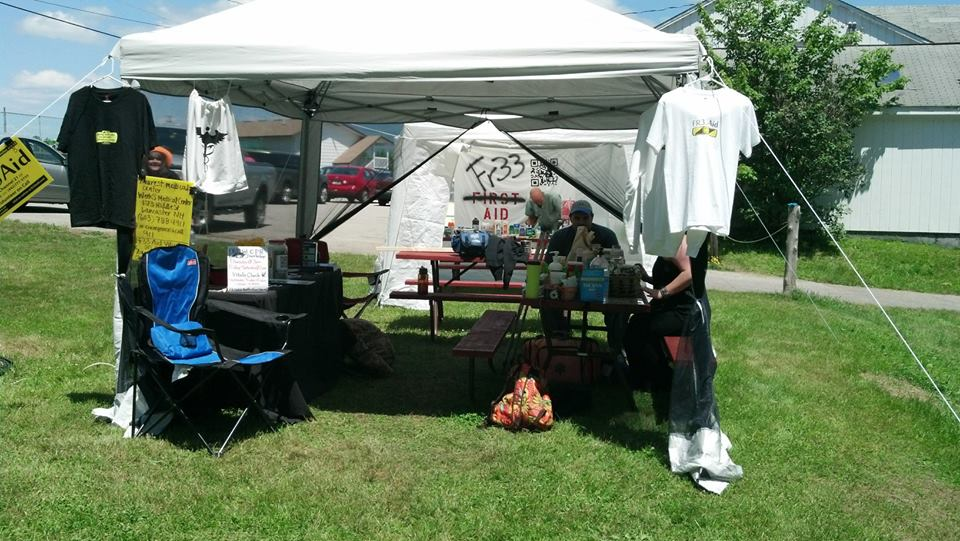 Fr33 Aid's Booth at PorcFest X