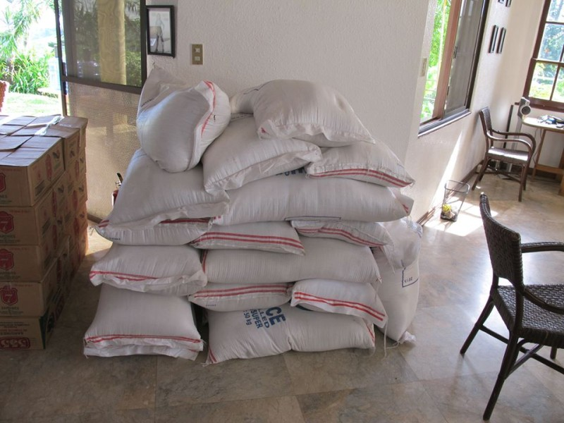 One metric ton of rice. Photo by Derick Bulkley.