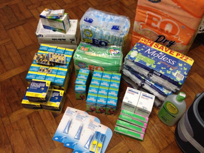 Rochelle goes shopping for Tacloban supplies. Photo by Rochelle de Leon.