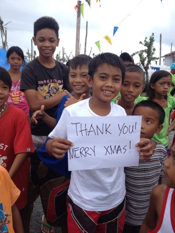 Thank you! Photo by Tindog Waray Help for Haiyan/Yolanda Philippine Typhoon Victims