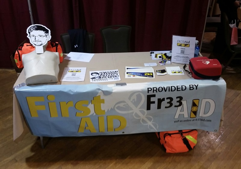 Fr33 Aid table at Liberty Forum 2016