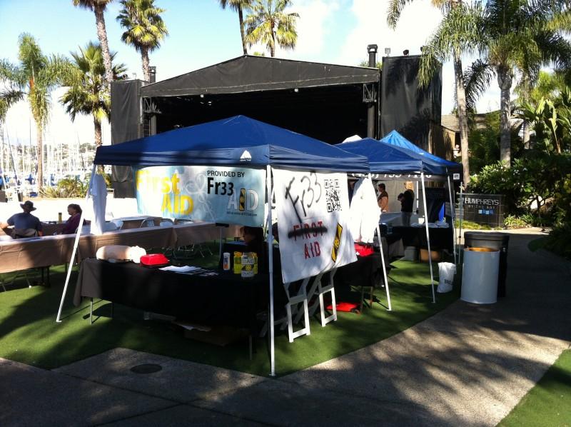 Fr33 Aid Booth at Libertopia 2012